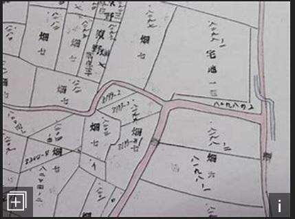 土地台帳附属地図サンプル